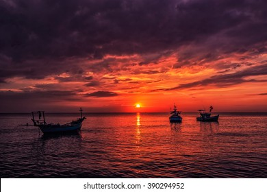 Sunset at Long Beach, Phu Quoc Island, Vietnam