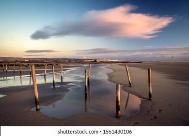 Sunset at Los Lances beach, Tarifa, Cadiz, Andalusia, Spain