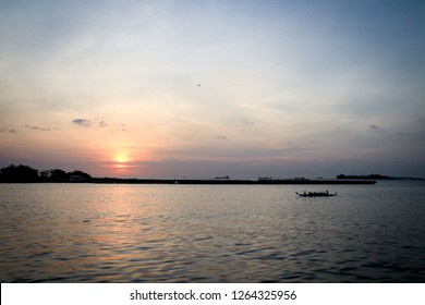 Sunset at Losari Beach Makassar, Indonesia