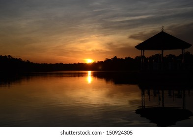 Sunset at Lower Peirce Reservoir, Singapore