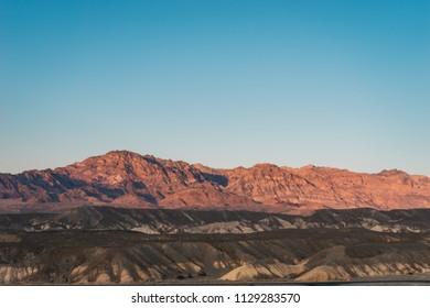 Sunset in the lowest point on earth in Death valley, USA, West Coast