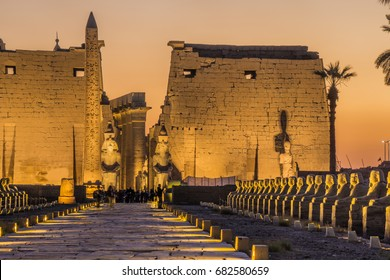 Sunset at Luxor Temple