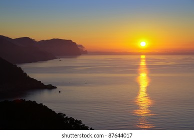 Sunset in the Majorca coast (Balearic Islands - Spain)