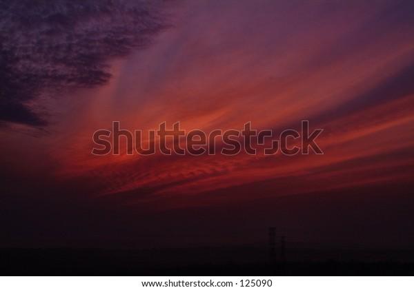 sunset of Malaysia UTM