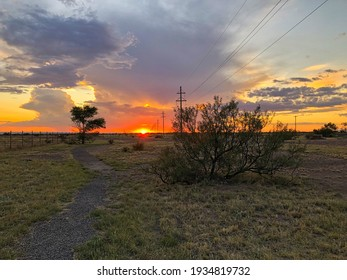 Sunset in Marfa, Texas, USA