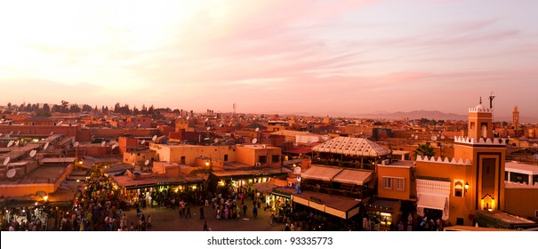 Sunset in Marrakesh, Morocco