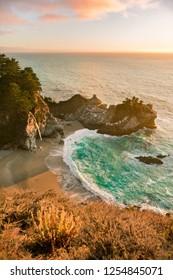 Sunset at McWay Falls, Big Sur, CA