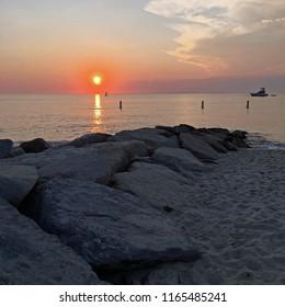 Sunset, Menemsha Harbor, Chilmark, Martha's Vineyard, Massachusetts