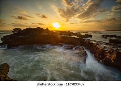 Sunset at Mengening Beach, Bali, Indonesia