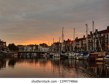 Sunset in Middelburg, Nederland