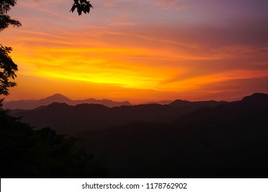 Sunset in Mizoram state. India