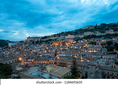 Sunset in Modica, Sicily, Italy