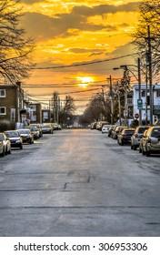 Sunset in Montreal in Mercier-est