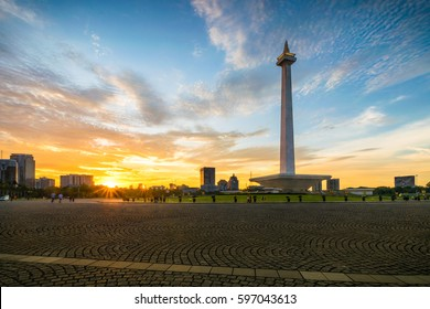 Sunset in Monument National Jakarta