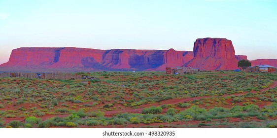 Sunset at the Monument Valley