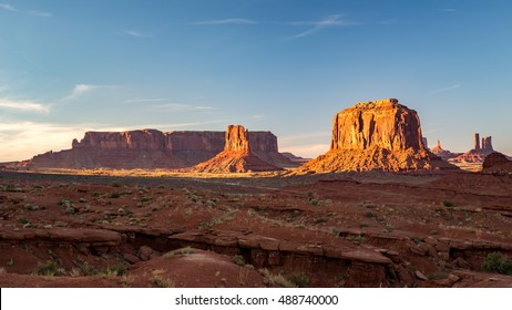Sunset in Monument Valley, Navajo Nation, USA.
