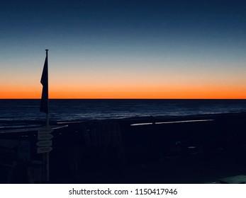 Sunset mood at Westerland