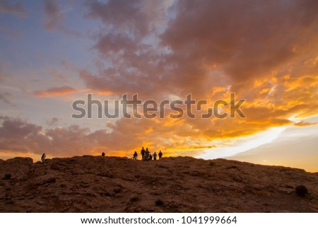 Sunset at moon valley