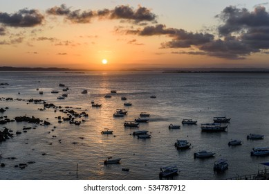 Sunset in Morro de Sao Paulo, South Bahia, Brazil