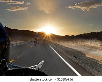 Sunset Motorcycle ride