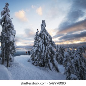 Sunset at Mount Seymour Provincial Park, North Vancouver, British Columbia, Canada
