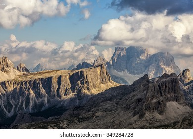 Sunset in the mountains - Dolomites, Italy