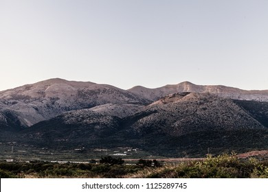 sunset in the mountains of Greece