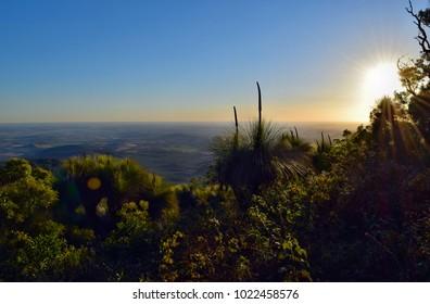 Sunset at  Mt Kiangarow in Bunya National Park, Queensland, Australia.