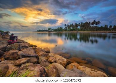 Sunset at Muaro Panjalinan, Padang, West Sumatera, Indonesia