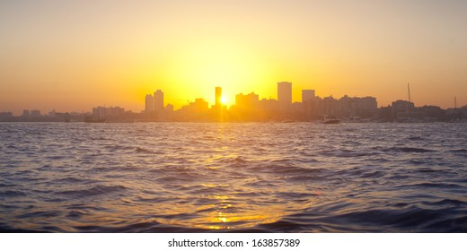 Sunset in Mumbai, India