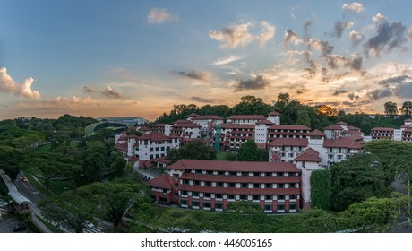 sunset at Nanyang Technological University