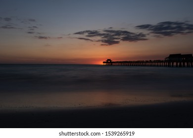 Sunset at the Naples Pier in Florida