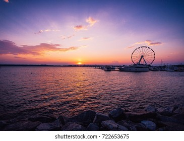 Sunset at National Harbor in Maryland