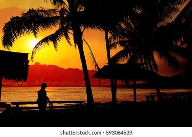 Sunset in Natuna, Riau Islands, Indonesia.