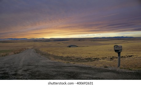 Sunset near Great Falls Montana