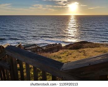 Sunset near Hallett Cove Conservation Park