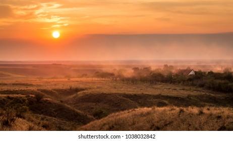 Sunset near Silagiu village, Romania