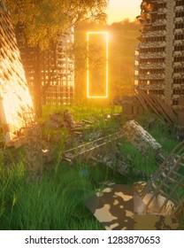 Sunset neon light warzone