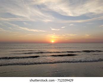 Sunset Noordwijk beach