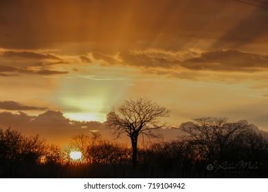 sunset in northeastern Brazil