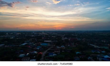 Sunset in northern Thailand