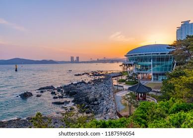 Sunset at Nurimaru APEC House, Busan, South Korea
