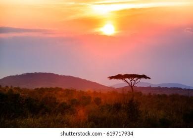 Sunset in Nyika National Park - Malawi