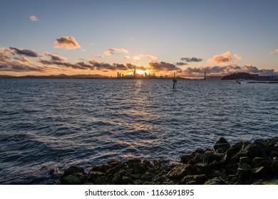 Sunset from Oakland's Middle Harbor Shoreline Park