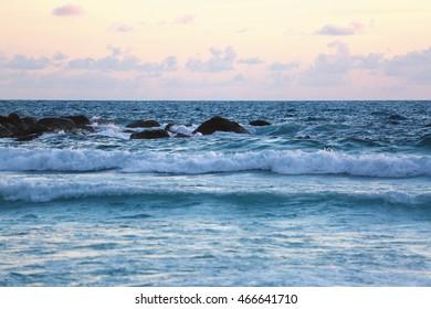 sunset at the ocean,sea sunset,pink sunset