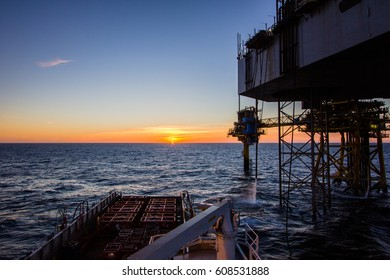 Sunset at offshore