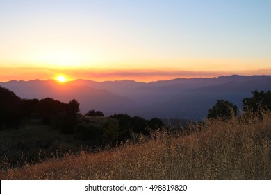 A sunset in the Ojai mountains.