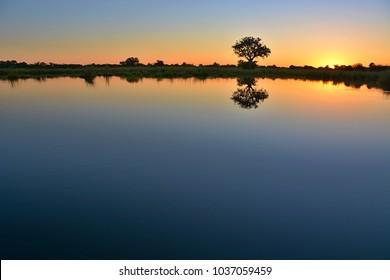Sunset at Okanavango