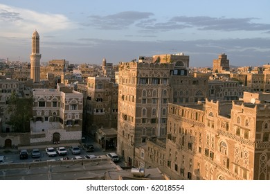 Sunset in the old part of Sana'a