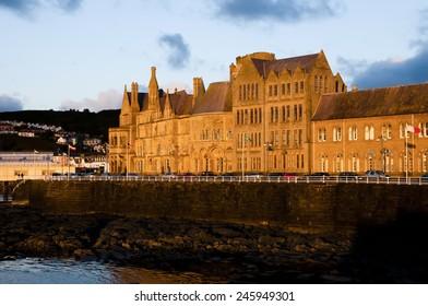 Sunset on Aberystwyth University - Wales